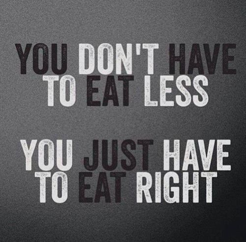 Eat more of what makes you healthy, your body will thank you.