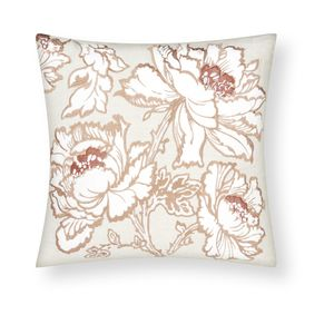 Tamara Floral Embroidered Copper Cushion