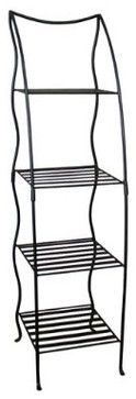 Corner Plant Stand - Black - traditional - outdoor planters - Target