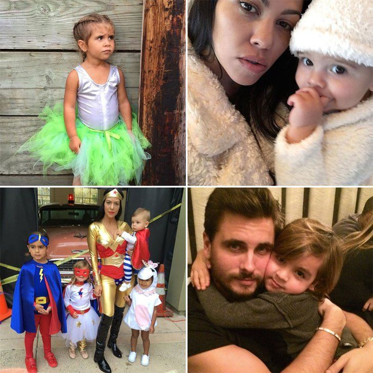 Pin for Later: These Celebrity Kids Owned Social Media in 2015 With Their Cuteness Mason, Penelope, and Reign Disick Parents: Scott Disick and Kourtney Kardashian.