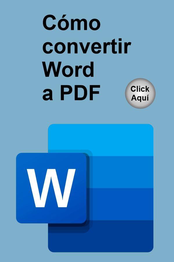 Cómo Convertir Word A Pdf Videos Tutorial Tutorial Microsoft