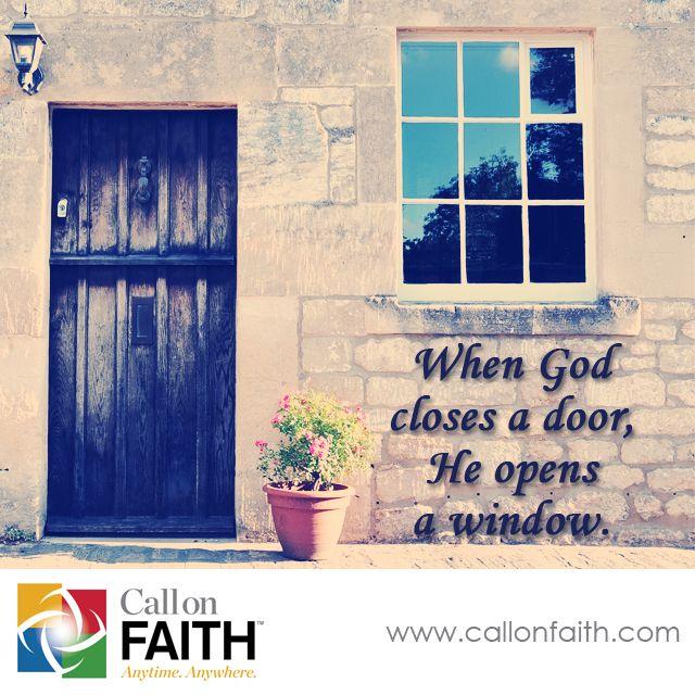 When God Closes A Door He Opens A Window Inspiration