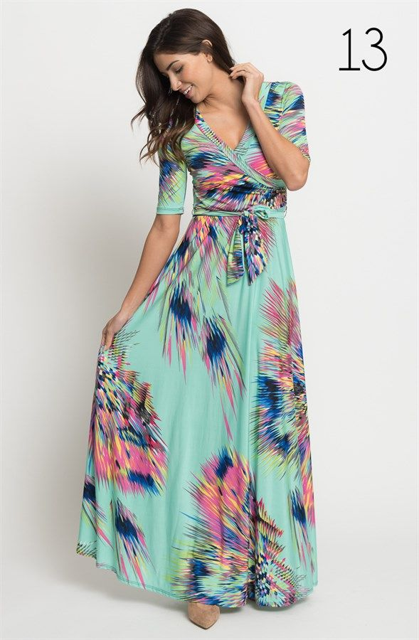 City Sleek Wrap Maxi Dress - New Prints {Jane Deals}