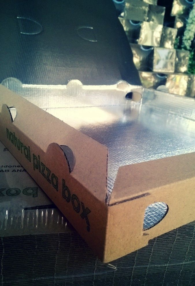 Pizza Box + PET metallized