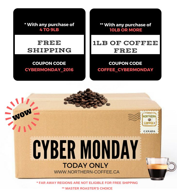 ►► #CODEPROMO #PROMOCODE #CYBERLUNDI #CYBERMONDAY #CAFEVRAC #NORTHERNCOFFEE #LIVRAISONGRATUITE #FREESHIPPING #CYBERLUNDI_2016 #CYBERMONDAY_2016 #CAFEGRATUIT #FREECOFFEE #CAFE_CYBERLUNDI #COFFEE_CYBERMONDAY ◄◄