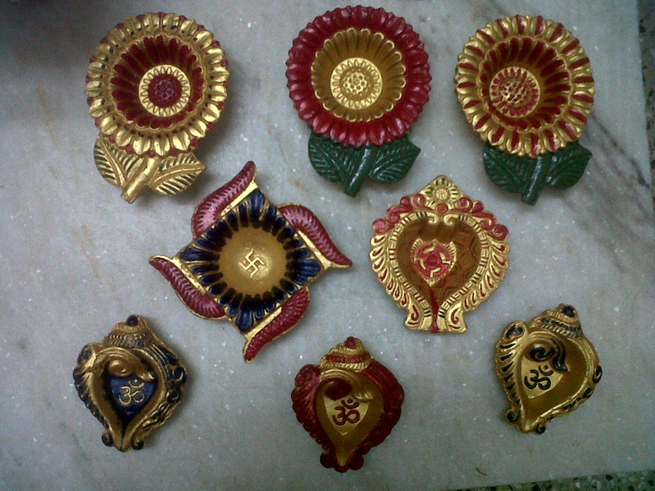 diya's i painted for this diwali