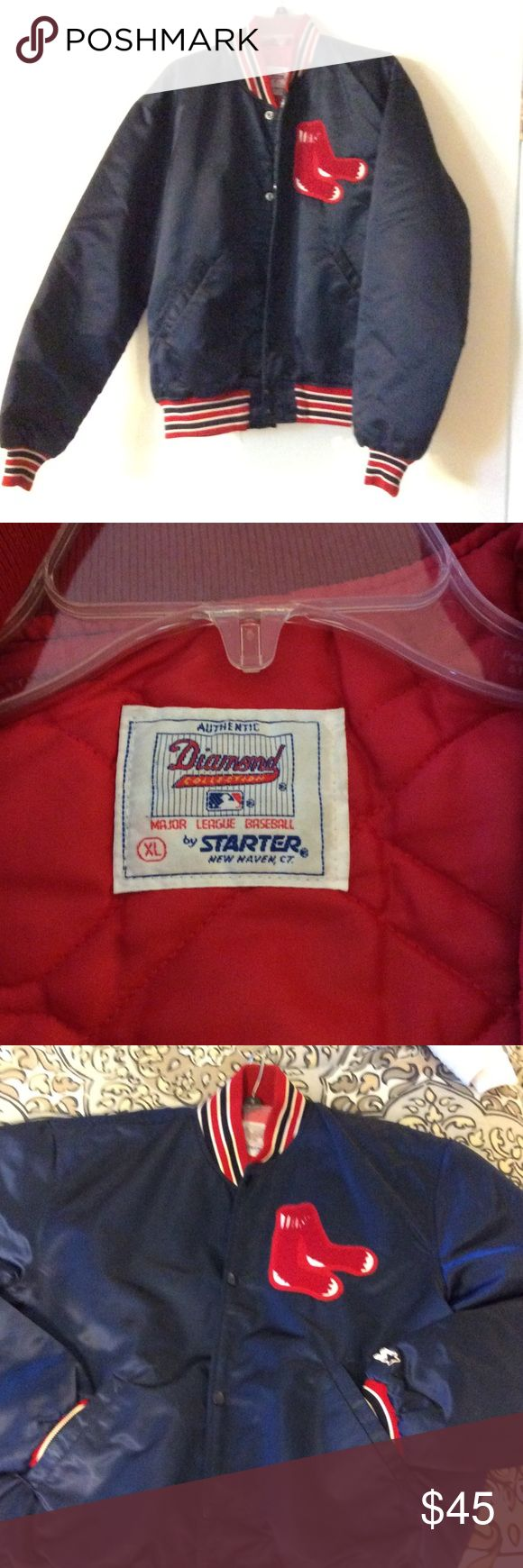 ⚾️ Vintage RED SOX Jacket ⚾️ The XL Red Sox jacket is in great condition.  It's looking for a new home, and it can be your.! No reasonable offer will be rejected. Diamond Jackets & Coats