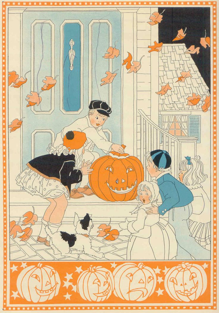 old fashioned Halloween illustration