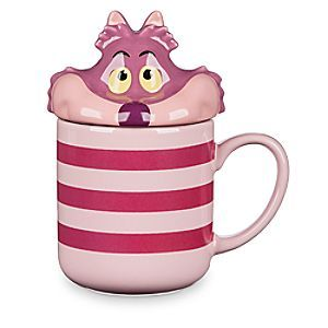 The Cheshire Cat from <i>Alice in Wonderland</i> has got the look - and it's right at you on this charming, ceramic mug with lid. The lid (also ceramic) features the sly trickster in a ''peek-a-boo'' style as if he were inside the mug.