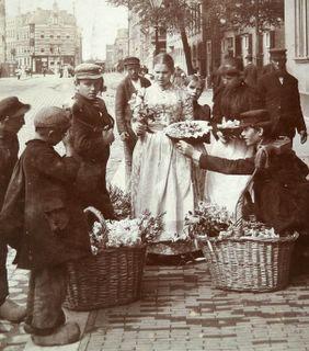 Flower boys and girls, Rotterdam, Holland, 1898.