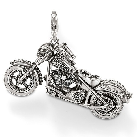 Thomas sabo Motorcycle Big Pendant with the typical Rebel-at-Heart symbols. Want this!!!