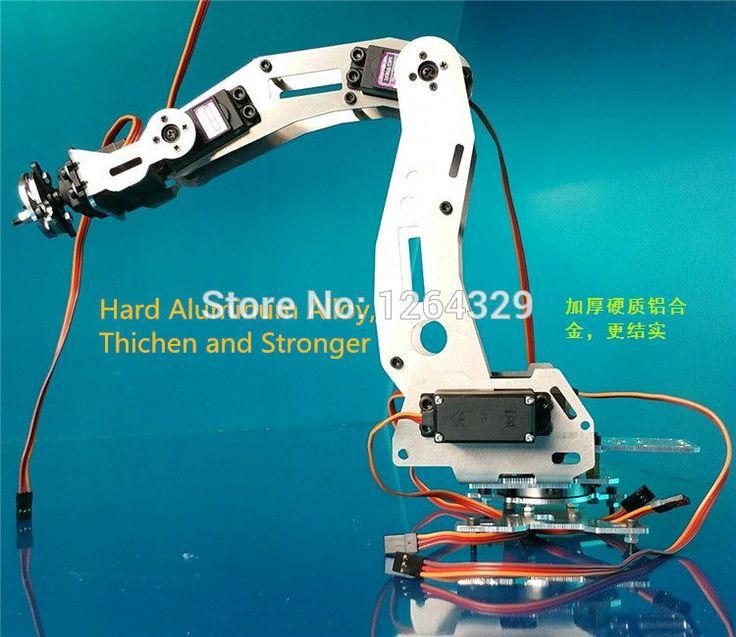 Купить товар6DOF манипулятора a2, Полностью металлический, С высоким крутящим моментом сервоприводы / управления роботом части для diy, Промышленный робот рука развития в категории Запчасти и аксессуарына AliExpress.  Описание продукта:      Название: 6 степенями свободы робот-a2          Все металлические механическая рука          Об