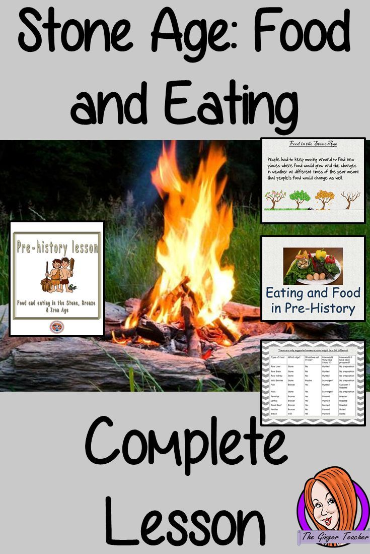 Complete lesson on pre-historic eating and food. Looking at how Stone Age people ate and survived.