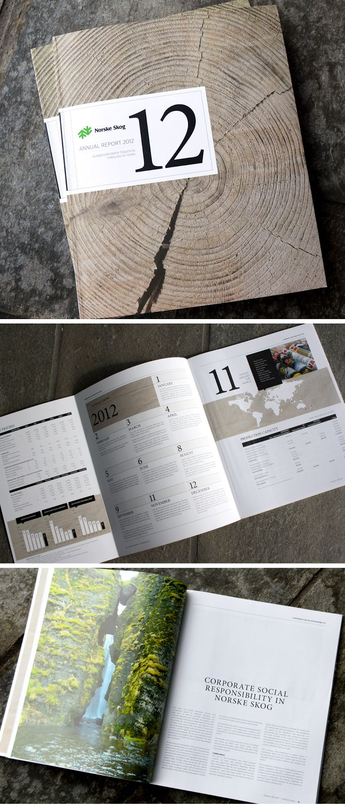 I like the theme throughout this annual report. The organic and natural feel is similar to what I want to do with the Republic of Tea company. One thing I would change is the size of the piece. I don't think it is necessary for the report to be so large.