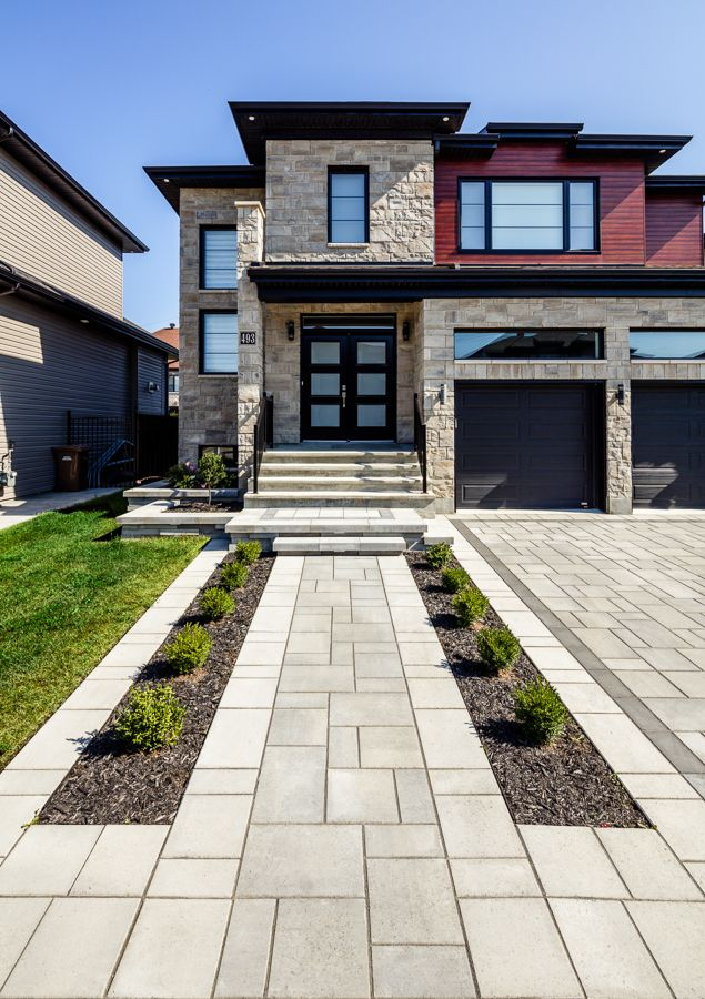 32 Creative Home Front Landscape Design Ideas: Driveway Inspiration For Contemporary And Modern Homes. Creative Front Yard Ideas And Landscape