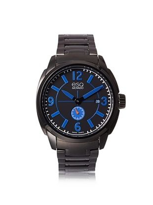 50% OFF ESQ Movado Men's 07301448 Excel Ion-Plated Grey/Blue Stainless Steel Watch