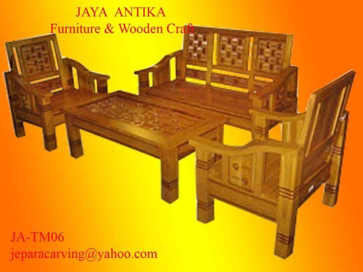 Code Barang : JA-TM06 Nama Barang : Set Meja Tamu 211  Set meja tamu 211 dari Jaya Antika terbuat dari kayu jati pilihan dan dikerjakan oleh tukang kayu profesional yang sudah berpengalaman dalam pembuatan mebel. Set meja tamu 211 ini di desain d