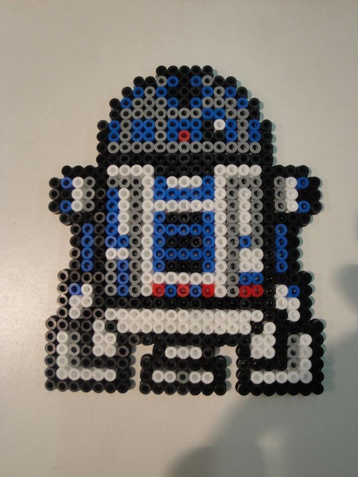 R2-D2 Hama Sprite: Hamabeads, Hamaperlen, Starwars