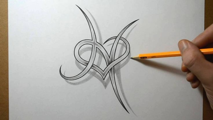 Designing a Letter H with a Heart Combined - YouTube