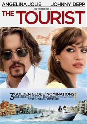 """The Tourist (2010) Watery Venice, Italy, provides the setting as Johnny Depp, playing an American tourist seeking solace for his shattered heart, instead finds it in danger again after encountering a beautiful Interpol agent (Angelina Jolie). Little does the Yank know that the artful lady has gone to great lengths to arrange their """"chance"""" meeting and is using him to trap a thief who happens to be her ex-lover. The film earned Golden Globe nods for Depp and Jolie."""