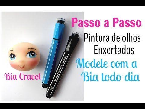 Pintura de Olhos com Canetinha - Passo a Passo - Bia Cravol - YouTube