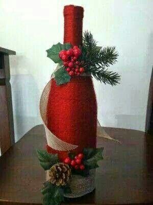 Botella navideña