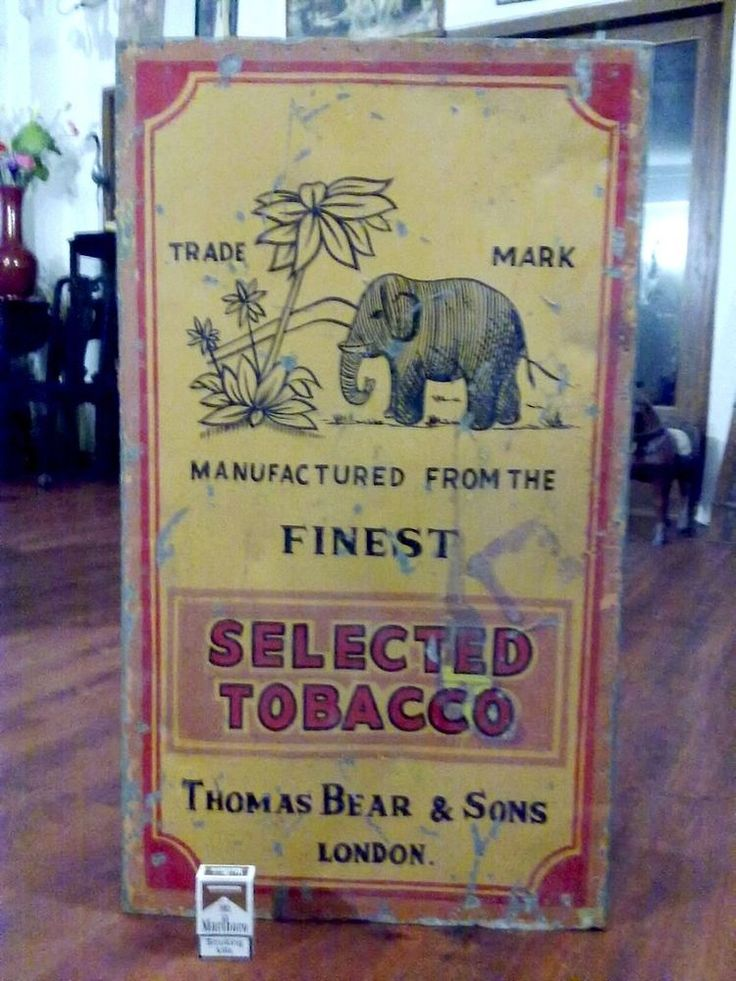 "3FT PACKET SHAPE "" BEAR'S HONEYDEW CIGARETTE "" VINTAGE TOBACCO STORE TIN DISPLAY #BearsHoneydewCigarettes"