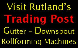 Used Gutter Machines For Sale - downspout machines - roof panel machines - free Trading Post Ads