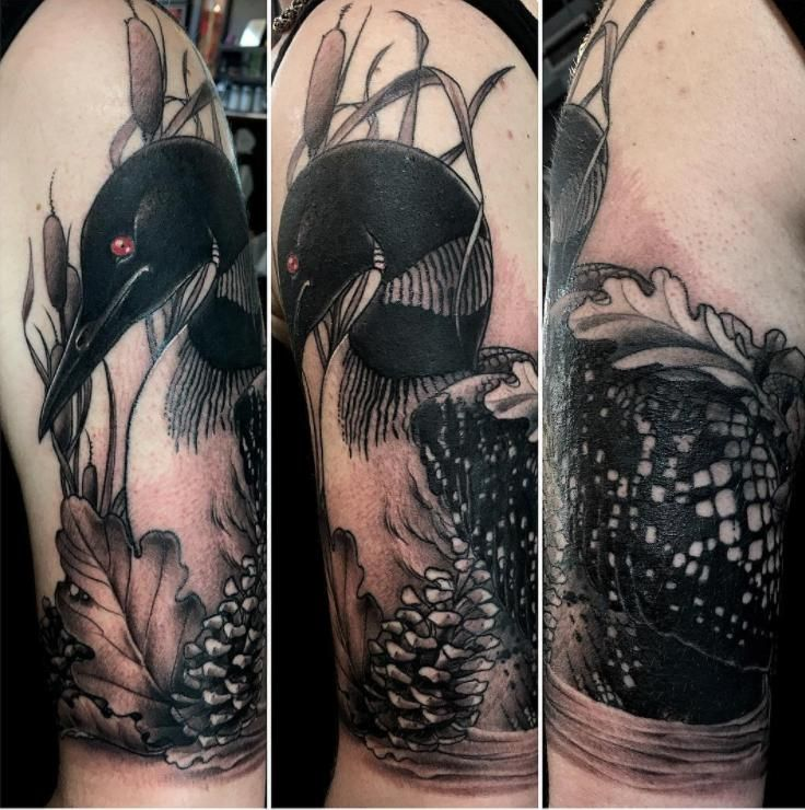 Loon - Matt Poohki Ward - BlackEnd Tattoo Ateliér - Minneapolis MN