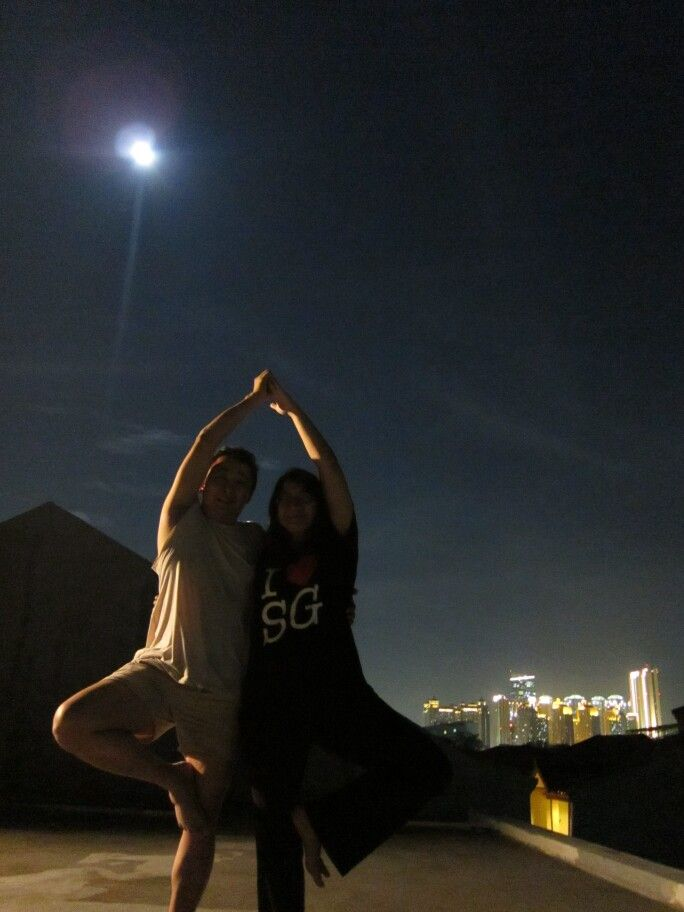 Full Moon on top of Griya Eling, my house.. The sheer energy and tranquility makes us wanna do the yoga there