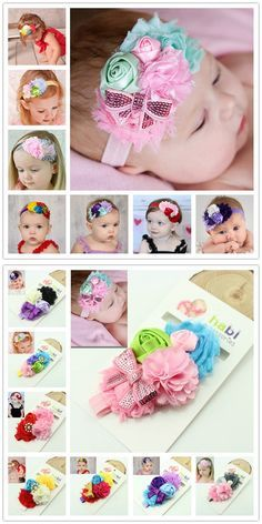 1 piece new2014 fashion newborn infant baby flower headband children hair bows girl kids hair accessories