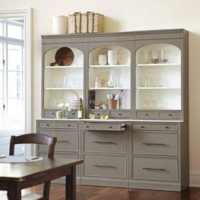 ballard designs.Dining Rooms, Ideas, China Cabinets, Kitchens Hutch, Colors, Furniture, White Interiors, Design, Paulette Server