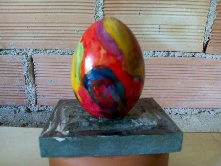 Κεραμικο αυγο φυσικο μεγεθος,ζωγραφισμενο στο χερι