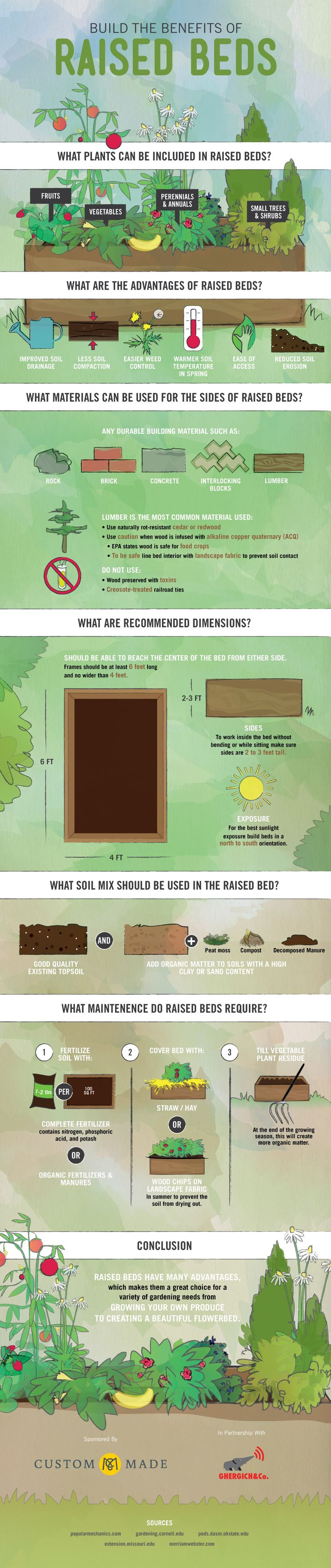 The Benefits Of Raised Garden Beds Graphic  The Prepper Journal