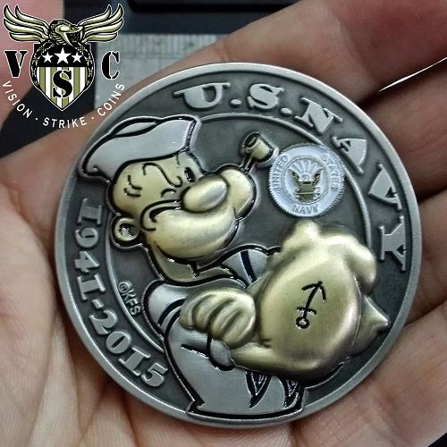 Popeye US Navy US Coast Guard Double Headed Coin ™ $17.00 (Use the promotional code: COASTIES and get 20 percent off!)