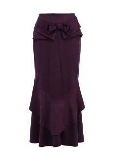 Юбка MadaM T, цвет: фиолетовый. Артикул: MA422EWEGY43. Женская одежда / Юбки / Макси