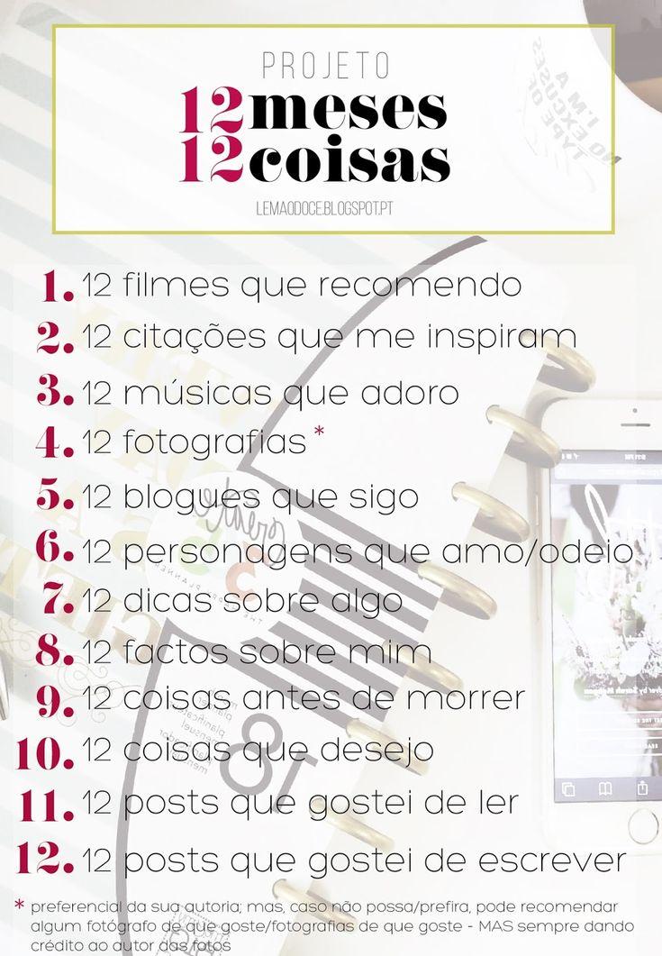 Projeto: #12Meses12Coisas