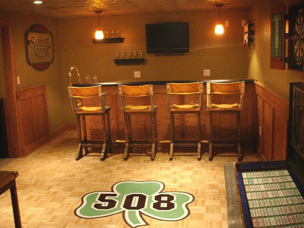 Man Cave Ideas Ireland : Man caves pool tables and bars luck of the irish home