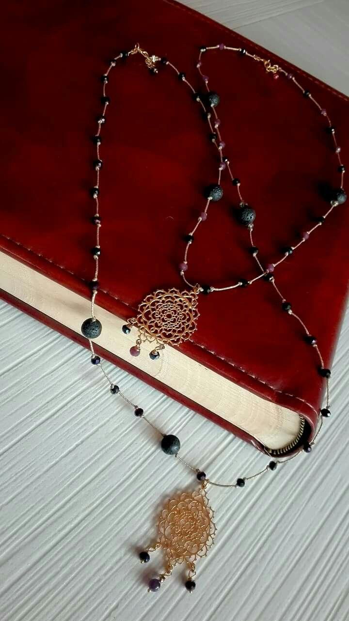 "Necklaces Semiprecious stones""Niky's handmade creations"""