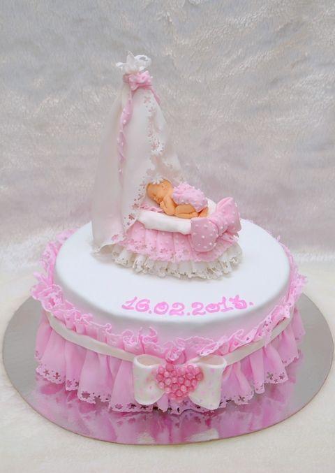 Торт на годик для девочки (повторюшка)