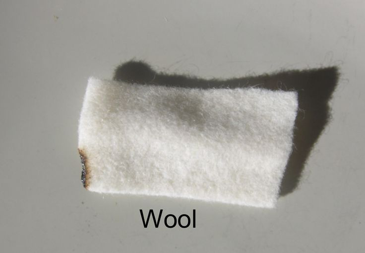 100% Wool Felt Fire Test As odd as it sounds I couldn't actually get the wool to burn at all. I held the lighter to the wool the entire time and this was all I was able to accomplish, there was no smoke although there was a faint smell of burning hair although nothing like the smell of human hair and what I did manage to burn created a soft ash which fell to dust on contact. americanfeltandcraft.files.wordpress.com 2009 05 firewool.jpg
