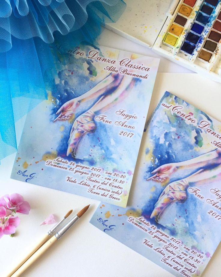 """""""Mi piace"""": 85, commenti: 9 - Anna G. (@anna_g_fashion) su Instagram: """"Feeling happy as a child to have my painting printed on ballet school invitations 😍😄…"""""""
