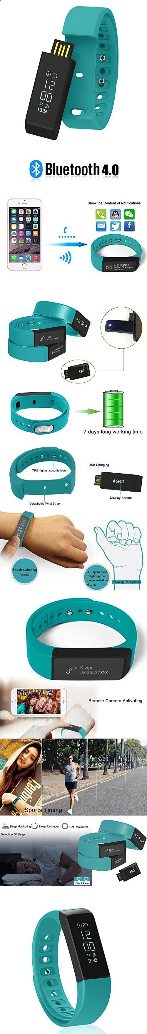 Activity Bracelets Fitness - Activity Bracelets Fitness - Fitness Tracker Pedometer Vcall I5 PLUS Waterproof Bluetooth Activity Tracker Sports Bracelet Smart Band Wristband Fitness Watch with Touch Screen Health Sleep Monitor for iPhone Android Phones - The benefits of wearing these smart bracelets are not only in your comfort, but also in that they are able to control all your physical progress - The benefits of wearing these smart bracelets are not only in your comfort, but also in t...