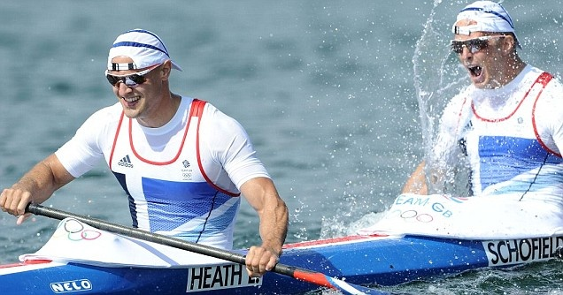Liam Heath and Jon Schofield were unable to capitalise on an early lead in the 200m kayak double K2 final, but still held on to third place for Olympic bronze.