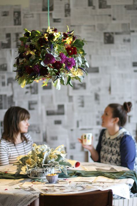 Make This: Fresh Flower Pendant Light DIY