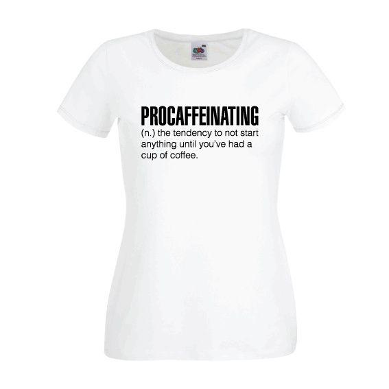 Dames | Lady-fit tshirt Procaffeinating (613820/780)