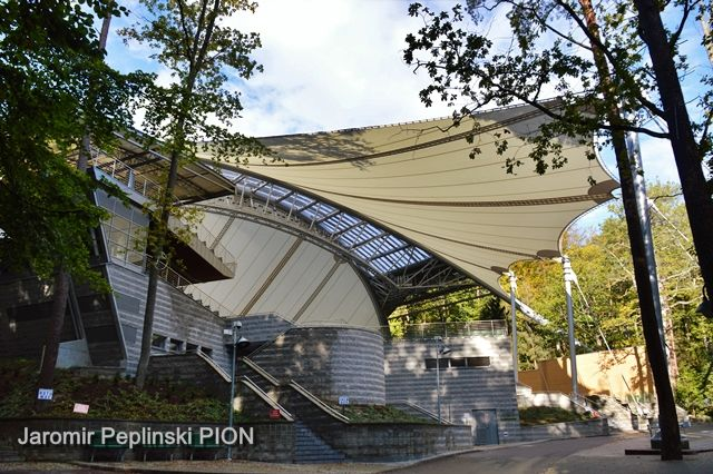 PTFE roof Forest Opera Sopot/Poland