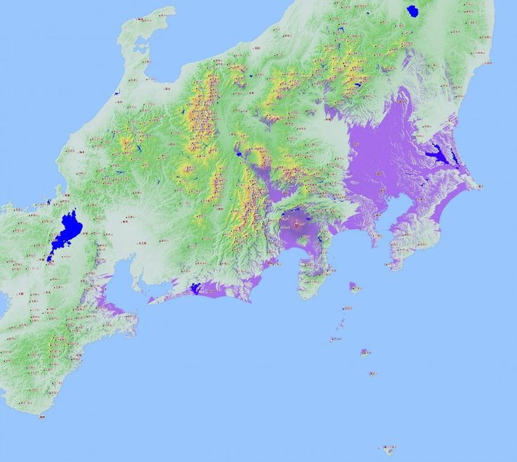 Une carte de la visibilité potentielle du Mont Fuji - La boite verte