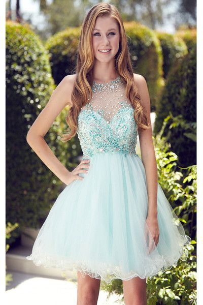 Homecoming Dresses,Rhinestone Homecoming Dresses,Baby Blue Homecoming Dresses,Stunning Homecoming Dresses,Juniors Homecoming Dress,Cheap Homecoming Dresses,PD0514