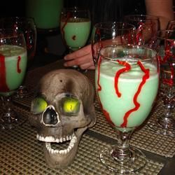 394 best halloween drink recipes images on pinterest for Halloween green punch recipes alcoholic